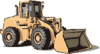 Vehicle equipment construction loader clip art