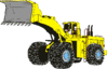 Vehicle equipment construction loader up clip art