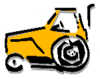 Vehicle equipment construction tractor clip art