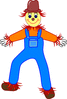 agriculture scarecrow smiling clip art