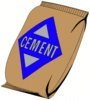 construction bag cement clip art