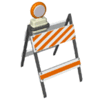 construction road barrier clip art
