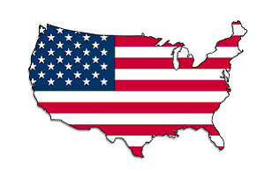 Country USA flag map