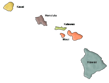 US State Counties Hawaii