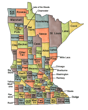 US State Counties Minnesota
