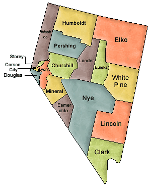 US State Counties Nevada