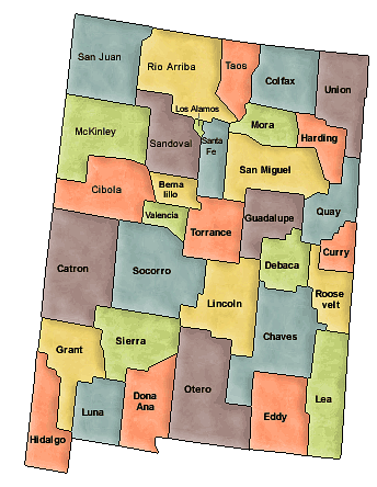 US State Counties New Mexico