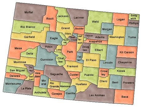 US State Counties Colorado
