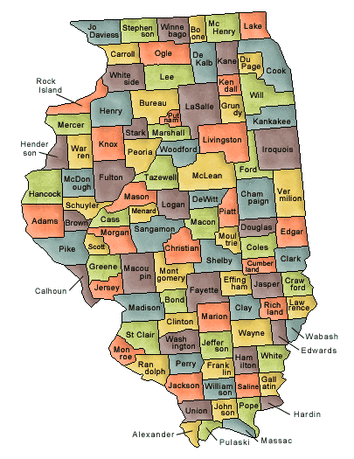US State Counties Illinois