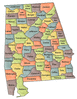 US State Counties Alabama clip art