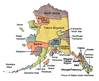 US State Counties Alaska clip art