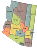 US State Counties Arizona clip art