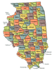 US State Counties Illinois clip art