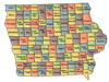 US State Counties Iowa clip art