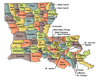 US State Counties Louisiana clip art