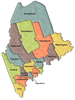 US State Counties Maine clip art