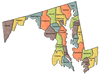 US State Counties Maryland clip art