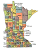 US State Counties Minnesota clip art