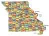 US State Counties Missouri clip art