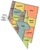 US State Counties Nevada clip art
