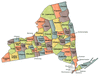US State Counties New York clip art