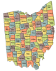 US State Counties Ohio clip art
