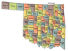 US State Counties Oklahoma clip art