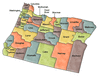 US State Counties Oregon clip art