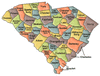 US State Counties South Carolina clip art