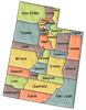 US State Counties Utah clip art