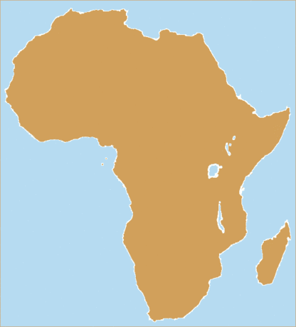 Continent Blank Africa 2 tone