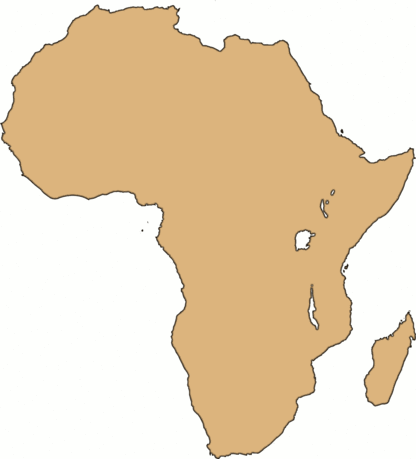 Continent Blank Africa large