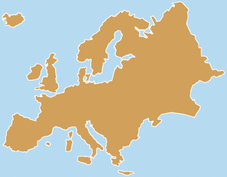 Continent Blank Europe 2 tone