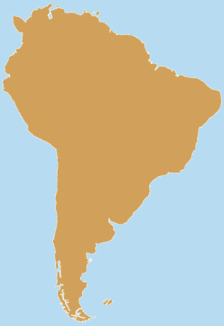 Continent Blank South America 2 tone