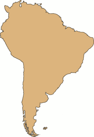 Continent Blank South America large