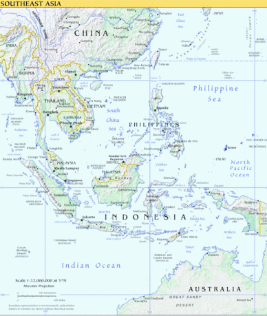 Continent southeast asia