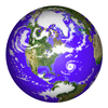 Earth Globe earth color illustrated clip art