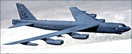 B 52 in flight