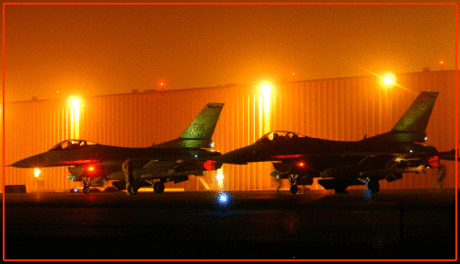 F-16s on HotRamp in Iraq