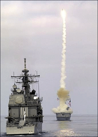 destroyer fires surface to air