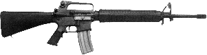 weapon gun M16 0