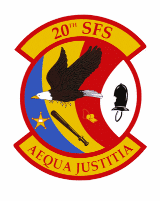 20th Security Forces Squadron Logo Color