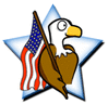 US military All American supporter clip art