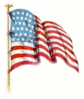 US military flag waving right clip art