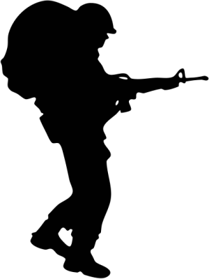 soldier army military soldier w M16 Siloette
