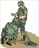 soldier army military 91mm mortar team clip art