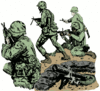 soldier army military advancing clip art