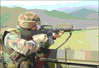 soldier army military shooting from truck clip art