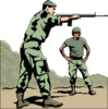 soldier army military shooting instructions clip art