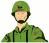 soldier army military soldier 2 clip art